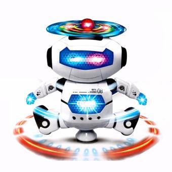 Robot Biết Nhảy Và Hát Xoay 360 Độ (Trắng)