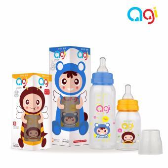 Bộ 2 bình sữa Agi Premium 120ml và 250ml (Màu trắng)