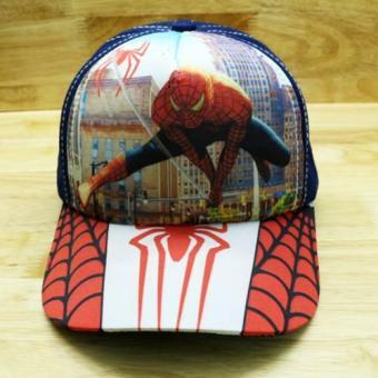 Nón trẻ em Spider Man ( Xanh)