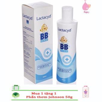 Sữa Tắm Ngừa Rôm Sảy Lactacyd 250ml + Tặng phấn thơm Johnson