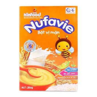 Bột ăn dặm cho bé Nufavie vị mặn - sản phẩm của viện dinh dưỡng quốc gia