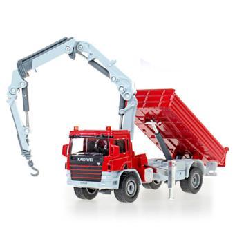 Mô hình sắt tỉ lệ 1/50 xe công trình đa dụng có cần cẩu