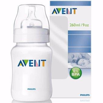 Bình sữa bằng nhựa không có BPA 260ml Philips Avent 563.17