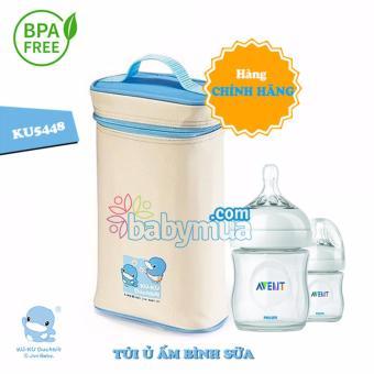 Túi ủ ấm Bình sữa Kuku ku5448 (trắng)