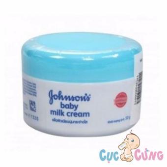 Kem dưỡng da chứa sữa và gạo Johnson Baby 50gr - Xanh