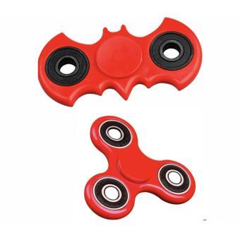 COMBO 2 Đồ Chơi Con Quay Giúp Xả Stress Fidget Spinner (đỏ)