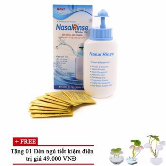 Bình rửa mũi Nasal Rinse + Kèm 10 gói muối ( tặng đèn ngủ )
