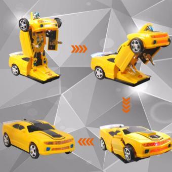 Xe Ô tô biến hình thành Robot chạy pin, phát nhạc cho bé yêu (TF ROBOT)