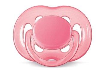 Ty ngậm Silicone màu sắc cho bé từ 6-18 tháng tuổi (Hồng)