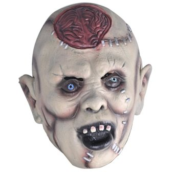 Super Scary Horror Devil Burst Brain latex Mask for Halloween Cosplay Party Carnival Masquerade Bar Decorative Props - intl