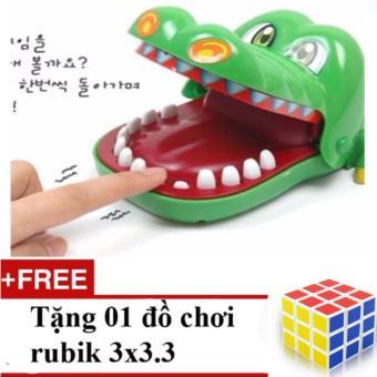 Bộ trò chơi khám răng cá sấu + Tặng 01 đồ chơi Rubik 3 x 3 x 3