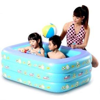 Bể bơi phao 3 tầng cho bé 130x100x55cm (Xanh dương)