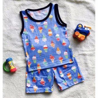 Quần áo trẻ em Bộ muôn thú BTE009 (Xanh ngọc)