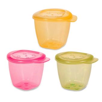 Bộ 3 hộp đựng thức ăn có nắp UPASS HỮU CƠ UP4187O3 - 3 (Xanh lá, Hồng, Vàng)