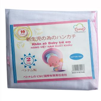 Túi 10 khăn sữa 02 lớp 32x32(cm) 100% cotton