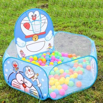 Lều bóng hoạt hình cho bé hinh doremon + Tặng 100 bóng