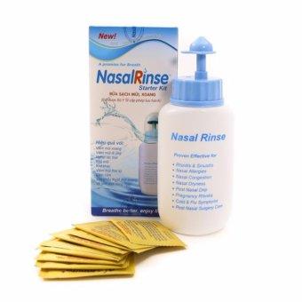 Bình rửa mũi Nasal Rinse + Kèm 10 gói dung dịch muối