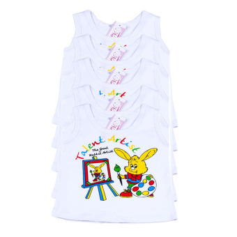 Bộ 5 áo ba lỗ trắng Nanio AD009