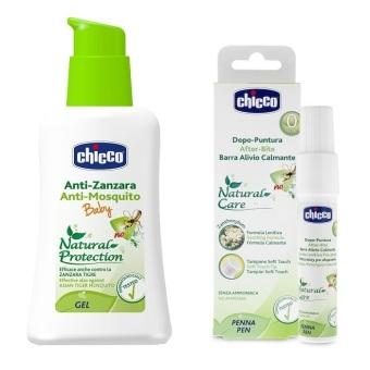 Bộ Kem chống muỗi Chicco 60ml 10660 và Lăn bôi vết muỗi và côn trùng cắn Chicco 0988 10ml