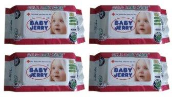 Bộ 4 gói khăn ướt Baby Jerry 80 tờ