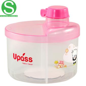 Hộp Chia Sữa Tròn 4 Ngăn Không BPA Upass UP8005CX (Hồng)