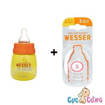 Bộ bình sữa wesser 60ml và Vỉ ty Wesser