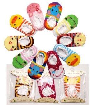 Bộ 10 đôi tất hoạt hình chống trơn trượt cho bé