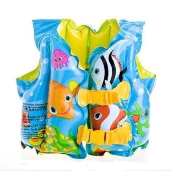 Áo phao Intex kiểu gile kích thước 41 x 30 cm dùng cho bé từ 3 đến 5 tuổi (Xanh)