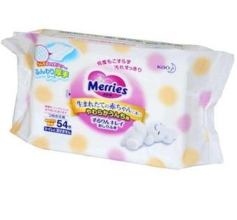 Giấy ướt Merries Nhật Bản gói 54 miếng