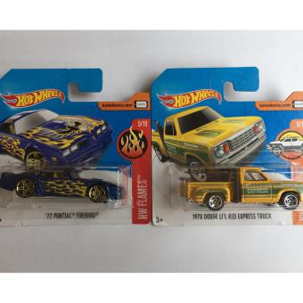 Bộ 2 xe mô hình Hot Wheels Set 18H: 77 Pontiac Firebird Và 1978 Dodge LI'L Red Express Truck
