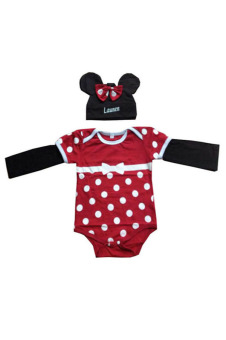 Babysuit tay dài Mickey kèm nón BS042 (Đỏ)