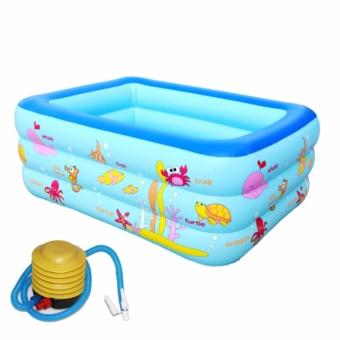 Em be tam phao - Bể bơi phao Z130 ĐẸP, DÀY, CỰC BỀN- dành cho cả người lớn - TẶNG BƠM CHUYÊN DỤNG.