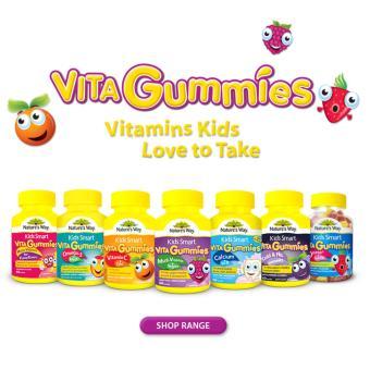 Bộ 03 Hủ kẹo vittamin Smarts Kids Nature's Way (Rau củ; Omega 3; Vitamin C)