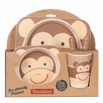 Bộ đồ ăn dặm Yookidoo khỉ con
