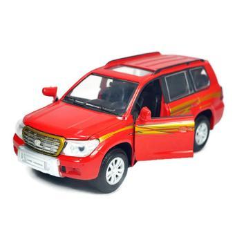 Mô Hình Xe Sắt 1/32 - 14cm - Xe Kiều Dáng Toyota Land Cruiser (Đỏ)(Red)