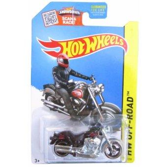 Xe mô hình tỉ lệ 1:64 Hot Wheels Moto Harley-Davidson Fat Boy - Đen