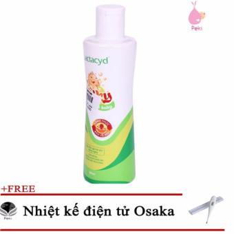 Sữa Tắm Gội Cho Bé Lactacyd Milky 250ml + Tặng Nhiệt kế điện tử Osaka