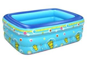 Bể bơi phao 3 tầng cho bé 130x100x55cm(xanh dương)