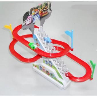 Bộ đồ chơi ô tô leo cầu trượt chạy bằng Pin H26