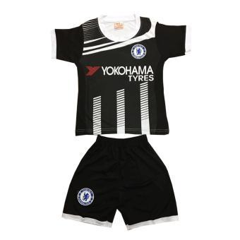 Bộ đồ thể thao em bé mẫu Chelsea màu đen