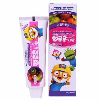 Kem đánh răng trẻ em hương hoa quả tổng hợp Pororo Hàn Quốc 90g - Hàng Chính Hãng