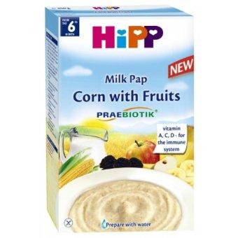 Bột ăn dặm hoa quả sữa bắp Hipp 250g