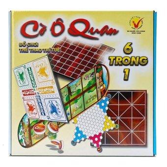 Đồ chơi tư duy, thông minh - CỜ Ô QUAN (6 trò chơi trong 1 hộp: Cá ngựa, cờ caro, cờ vây, cờ nhảy, cờ ô quan, cờ gánh)