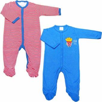 Bộ 2 áo liền quần liền tất bé trai Baby Gear (Mẫu khoai tây 13)