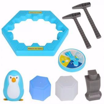 Bộ trò chơi bẫy chim cánh cụt - phá băng cực vui nhộn Penguin Trap + Tặng 02 ô tô bánh đà