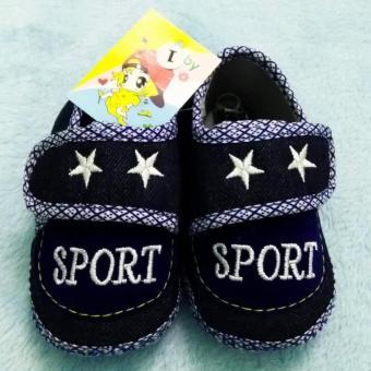 Giày đế bệt vải Jean - Baby Sport (Xanh Navy)
