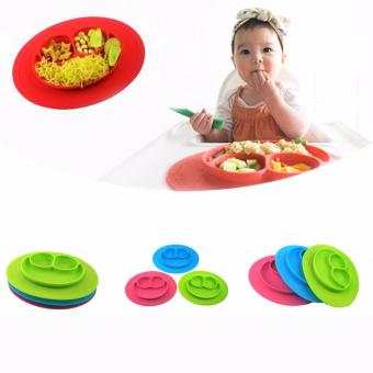 Fancyqube One-Piece Silicone Place Mat + Plate Tray Baby Toddler Kids Suction Table Orange - intl