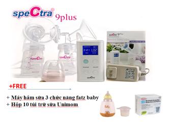 Máy hút sữa Spectra 9plus + tặng 1 máy hâm sữa 3 chức năng Fatz + 10 túi trữ sưa Unimom
