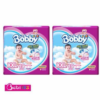 Combo 2 Gói Tã Dán Bobby Siêu Mỏng XXL19
