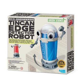 Đồ chơi khoa học-Robot lon thiếc dò mép bàn+ Tặng vòng tay sillicon cho trẻ em